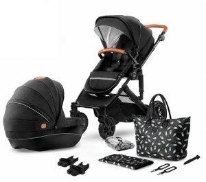 Kinderkraft Wózek głęboko-spacerowy 2w1 Prime czarny