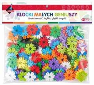 Klocki Małych Geniuszy - Kwiatki 140 elementów