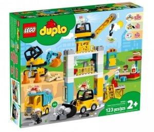 LEGO Klocki DUPLO 10933 Żuraw wieżowy i budowa
