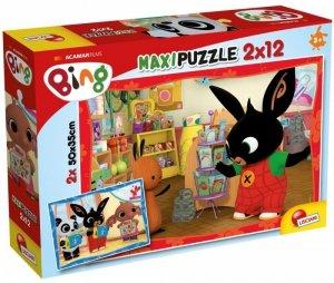 Lisciani Puzzle Bing 2x12 elementów W szkole