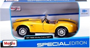 Maisto Model metalowy Shelby Cobra 427 1965 1/24 Żółty