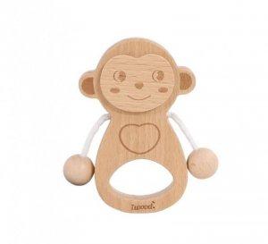 iWood Grzechotka małpka drewniana