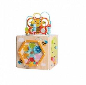 iWood Centrum zabawy przeplatanka kostka Pszczółka