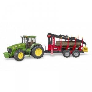 Braun Phototechnik Traktor John Deere 7930 z przyczepą do bali