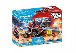 Playmobil Zestaw z pojazdem Stunt Show 70554 Gokart straży pożarnej
