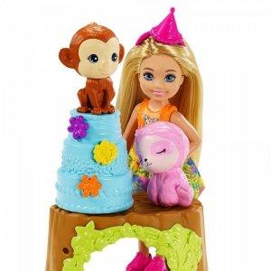 Mattel Lalka Barbie Chelsea Urodziny z niespodzianką Zestaw