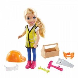 Mattel Lalka Barbie Chelsea Kariera Budownicza
