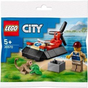 LEGO Klocki City 30570 Poduszkowiec ratowników dzikich zwierząt