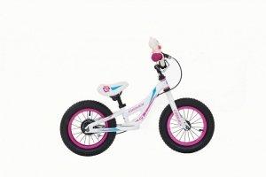 Rower dziecięcy aluminiowy biegowy Cossack Iggi – biały - 12 cali