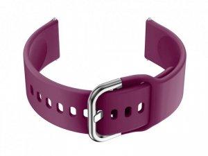 Pasek gumowy do smartwatch 20mm - fiolet/srebrny