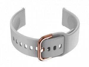 Pasek gumowy do smartwatch 20mm - szary/rosegold