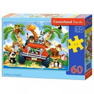 Puzzle 60el. softies on safari