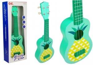 Ukulele Gitara Zielona Ananas Struny 53cm