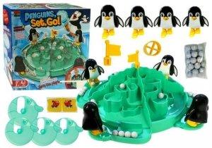 Gra Lodowiec Pingwinów Podbijanie Piłek Śnieżek