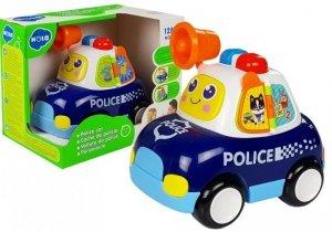 Auto policyjne z dźwiękami i światełkami Megafon
