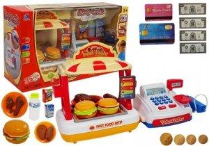 Kasa Fiskalna z Fast Foodami Stragan + Akcesoria