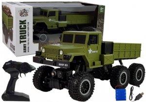 Ciężarówka Zdalnie Sterowana Wojskowa 6x6 Zielona