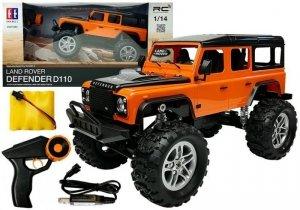Auto Zdalnie Sterowane Land Rover Defender R/C Pomarańczowe 1:14