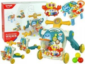 Pchacz 4w1 Stolik Edukacyjny Hulajnoga Rower Dla Dzieci Niebieski