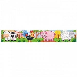 Drewniane Puzzle Farma Zwierzątka Viga Toys Układanka 4 Obrazki