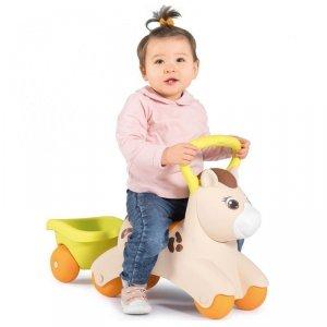Smoby Pierwszy Jeździk Pony Ride-On Kucyk z Przyczepką
