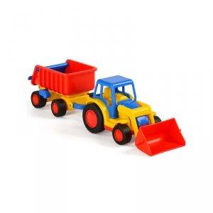 WADER QT Gigant Koparka Traktor + Przyczepa Wywrotka