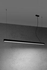 Lampa wisząca PINNE 150 czarna 4000K