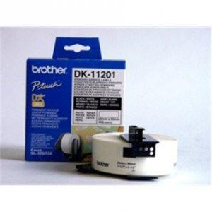 Brother DK-11201 Standard Address Labels Black, White, DK, 29mm x 90mm