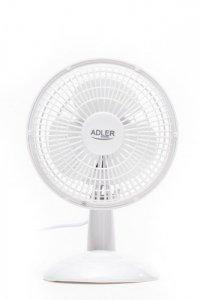 Adler AD 7301 Table Fan, Number of speeds 2, 30 W, Diameter 15 cm, White
