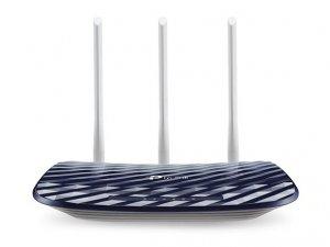 TP-LINK Router Archer C20 802.11ac, 300+433 Mbit/s, 10/100 Mbit/s, Ethernet LAN (RJ-45) ports 4, Antenna type 3xExternal