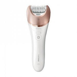 Philips Satinelle Epilator BRE650/00 Operating time 40 min, Cordless, 5.4 W, Number of speeds 2, White/Pink, Accumulator