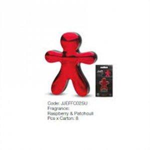 Mr&Mrs Car air freshener JEFF Raspberry&Patchouli, Chrome red