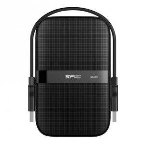 Silicon Power Portable Hard Drive Armor A60 1000 GB, USB 3.2, Black