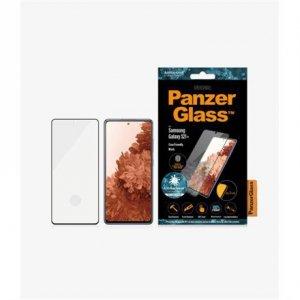 PanzerGlass Samsung, Galaxy S21+ Series, Antibacterial glass, Black, Antifingerprint screen protector, Case Friendly, Compatible