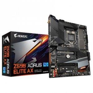 Gigabyte Z590 AORUS ELITE AX 1.0 M/B Processor family Intel, Processor socket LGA1200, DDR4 DIMM, Memory slots 4, Number of SATA
