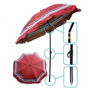 Parasol plażowo ogrodowy 200cm czerwony