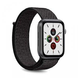 PURO Nylon - Pasek do Apple Watch 42/44/45 mm (Czarny)