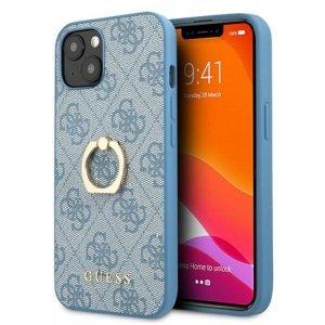 Guess 4G Ring Case - Etui iPhone 13 (niebieski)