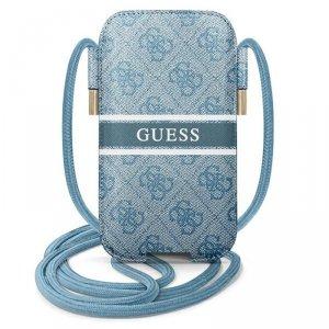 Guess 4G Printed Stripe Pouch - Torebka na telefon S/M max 6.1 (niebieski)