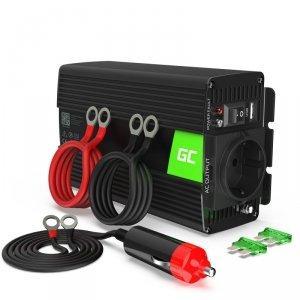 Green Cell - Przetwornica napięcia Inwerter 12V na 230V 300W/600W Modyfikowana sinusoida