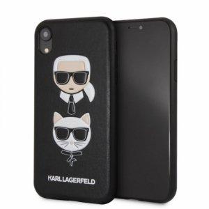 Karl Lagerfeld Embossed Case Karl & Choupette - Etui iPhone XR (Black)