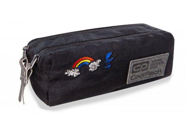 Piórnik Coolpack - edge - saszetka podwójna / prostokątna - sparkling badges black