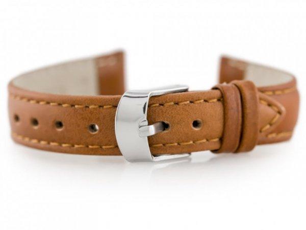 Pasek skórzany do zegarka W83 - brązowy - 12mm