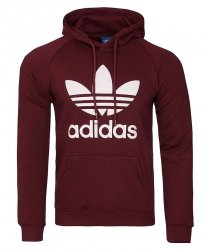 Adidas Originals bordowa bluza męska Orig 3foil Hood BR4177