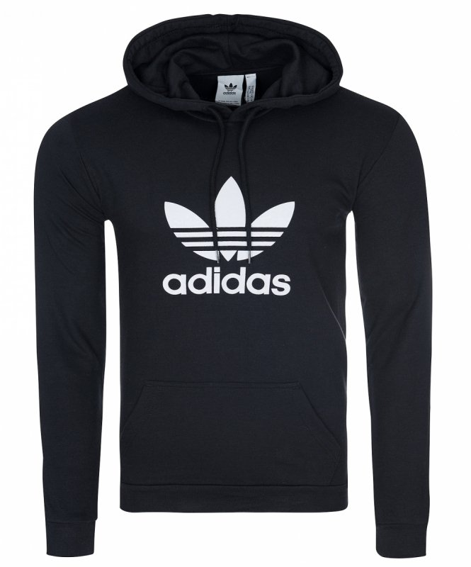Adidas Originals Trefoil czarna męska bluza z kapturem DT7964