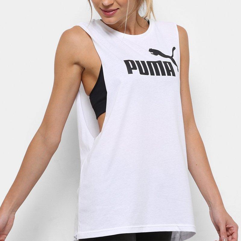 kupuj bestsellery dobra tekstura nowe obrazy Puma koszulka damska t-shirt Cut Off Boyfriend biała 851363 02