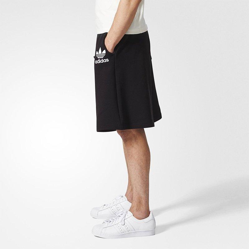 Adidas czarne krótkie spodenki dresowe męskie BQ1909