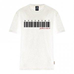 Koszulka Dystrykt Bar Code Biała/Czarna