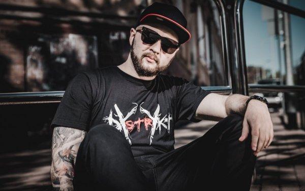 Koszulka Dystrykt Scratch Czarna/Biała