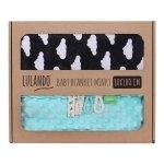 Lulando Kocyk MINKY 80x100 mięta-czarne w chmurki